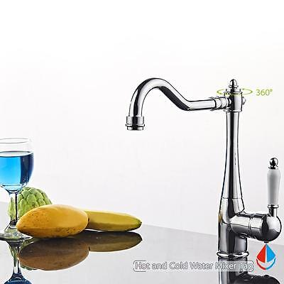 360° Rotating Faucet Kitchen Sink Hot & Cold Water Mixer Tap Bathroom New R7D2