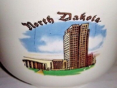 VTG North Dakota State Capitol Building Bismark ND Gold Rimmed Coffee Mug