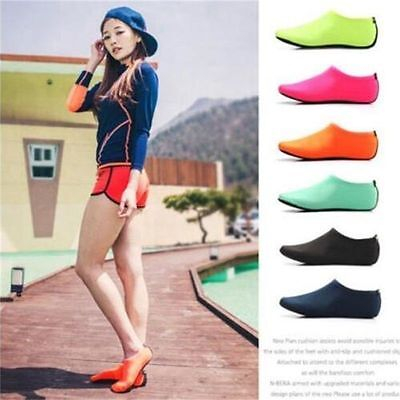 Skin Water Shoes Beach Socks Men Women Aqua Yoga Exercise Pool Swim Slip On Surf