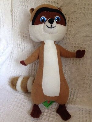 """Dreamworks Over The Hedge """"RJ"""" the raccoon toy - used - good condition"""