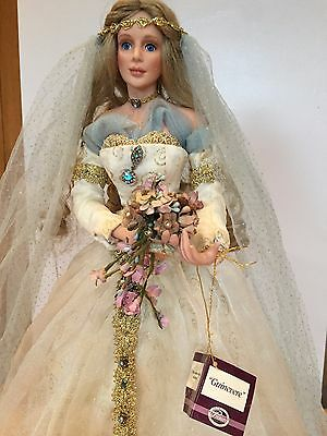 Collectable 'Guinevere' Bride Porcelain Doll By Cindy M McClure  **VERY RARE**