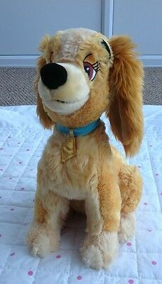 """Disney Store Lady And The Tramp Large Soft Plush Toy Excellent Condition 14"""""""