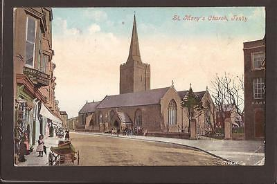 Tenby. St.Mary`s Church and Street. Tenby 1907.