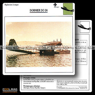 #007.10 DORNIER DO 24 (Luftwaffe) Hydravion - Fiche Avion Airplane Card