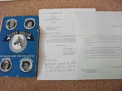 "Silver Dollar - ""the Greatest Horse Story Ever Written"" - Signed By The Author"