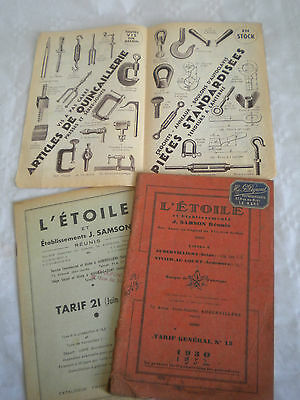 vintage catalogue 1930 L'Etoile clamps blacksmith tools metalware products