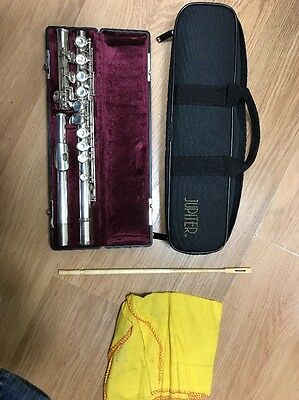 Jupiter Flute Silver Plated In Hard And Soft Case Marked SC