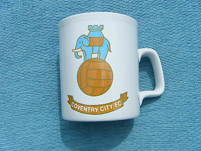 RARE OLD COVENTRY CITY FC MUG - 1970s - COFFER SPORTS  - SKY BLUES - PUSB .