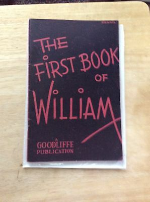 The First Book Of William - Billy Mccomb  - Magic - Pb