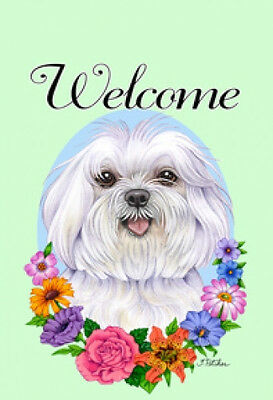 Garden Indoor/Outdoor Welcome Flag (Flowers) - Maltese 630411