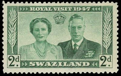 "SWAZILAND 45 (SG42) - Royal Visit ""George VI and Queen Elizabeth"" (pa34323)"