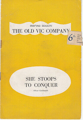 The Old Vic Theatre Co. program 1960/61 She Stoops to Conquer