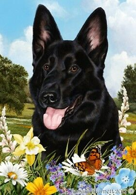 Large Pick 3 Flag Set - Black German Shepherd
