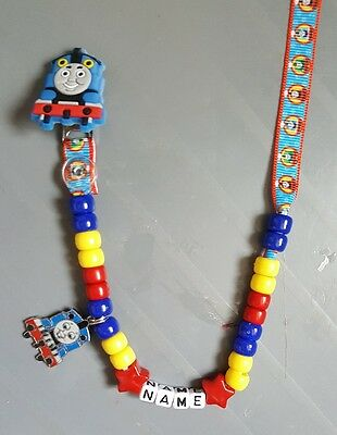 **thomas The  Tank** Personalised Dummy Clip,  **free Mam Ring** L@@k!!