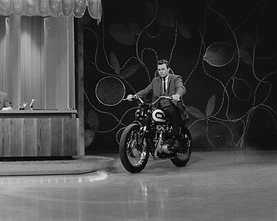 Evel Knievel & Triumph motorcycle jet engine photo 2 television show appearance