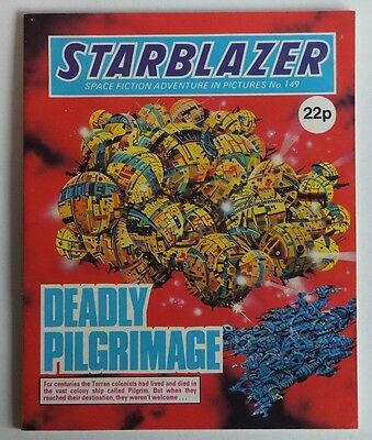 """STARBLAZER Science Fiction Adventure. # 149 """"Deadly Pilgrimage"""", issued 1985."""