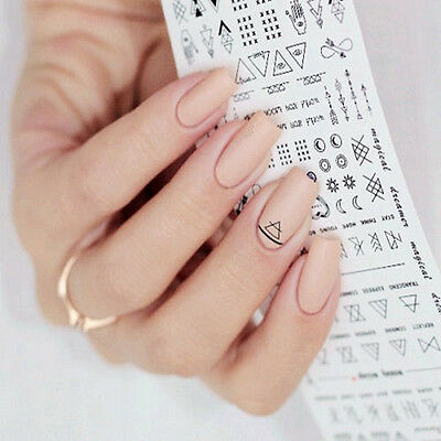 1 Sheet Letter Nail Art Water Decals Manicure Transfer Stickers DIY Accessories