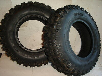 New Lot Of 2 Tires 4.80-8 Snow Tread Titan thrower Blower Snowblower Lug Pair