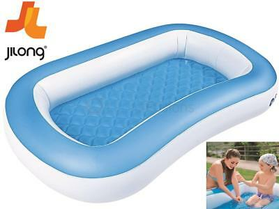 2 In 1 Giant Baby Inflatable Swimming Paddling Pool Air Bed Infant Age 2-6 Years