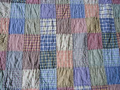 Pottery Barn Full/Queen Quilt Plaid