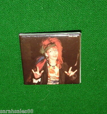 CYNDI LAUPER Vintage Pin, Pinback, Badge, Cindy Music Memorabilia Made in Canada