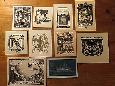 Vintage Ex Libris Job Lot ,10 pieces ##