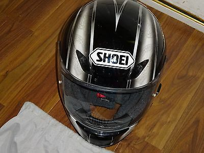 Shoei XR1000 Motorcycle Helmet artifact black / silver  XL size