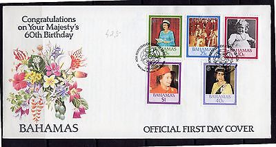1986 Bahamas - Fdc - 60Th Birthday Queen Elizabeth Ii #m521