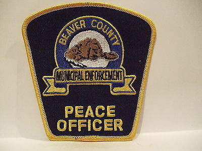 police patch  MUNICIPAL ENFORCEMENT PEACE OFFICER BEAVER COUNTY ALBERTA CANADA