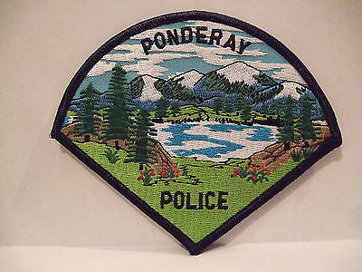 police patch  PONDERAY POLICE IDAHO