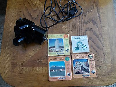 SAWYER LIGHTED VIEWMASTER WITH 3-COMPLETE PACKAGED REELS 1940's
