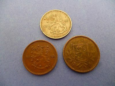 FINLAND 5 & 1 MARKKA COINS from the 1940'S