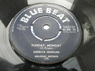Derrick Morgan - Sunday Monday 7' 1962 Blue Beat Listen