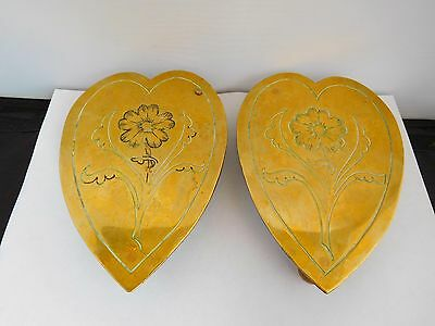 Wonderful Pair Of Late 18Th / Early 19Th Century Heart Shaped Marriage Trivets