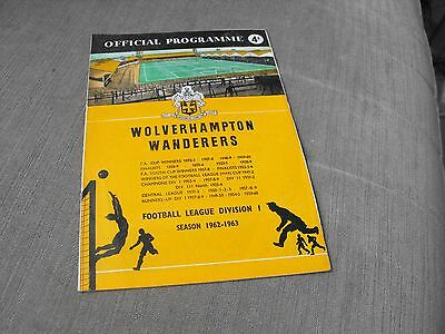 WOLVERHAMPTON WANDERERS v LEICESTER CITY 1/12/62, DIVISION 1