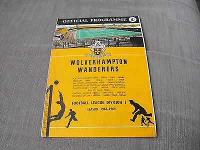 WOLVERHAMPTON WANDERERS v STOKE CITY 31/8/63, DIVISION 1