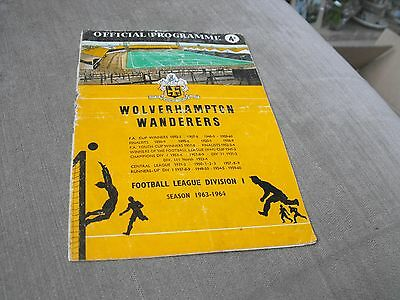 WOLVERHAMPTON WANDERERS v LIVERPOOL 9/9/63, DIVISION 1