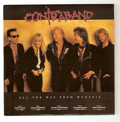 "Contraband - All the way from Memphis -  7""  1991 A1/B1 Michael Schenker Vixen"