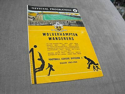 WOLVERHAMPTON WANDERERS v CHELSEA 28/9/63, DIVISION 1