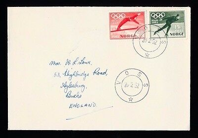 NORWAY - Winter Olympic Games VOSS 1952...FDC First Day Cover...Fast Post