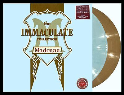 Madonna The Immaculate Collection 2017 Vinyl Blue/white Marble & Gold Gatefold