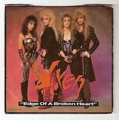 "Vixen - Edge of a broken heart Bw Charmed Life   7""  1988 A1/B1 Glam Metal"