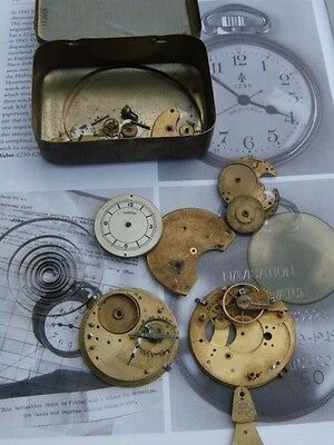 pocket watch parts project part repair watchmaker glass etc vintage & tin