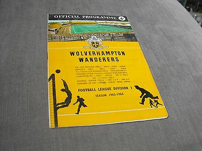 WOLVERHAMPTON WANDERERS v LEICESTER CITY 22/1/64, DIVISION 1