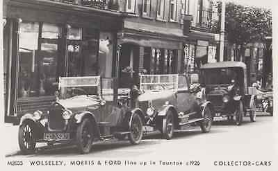 Wolseley Morris & Ford Classic Car Cars at Taunton Somerset Photo Postcard