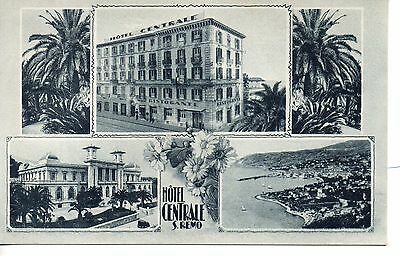 Great Hotel Centrale, San Remo, Italy Advert Postcard. C1910.