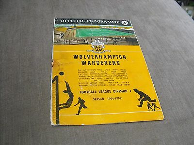 WOLVERHAMPTON WANDERERS v CHELSEA 22/8/64, DIVISION 1