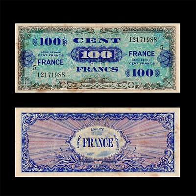 1944 France French Allied Military, 100 Francs » Cv $40 «
