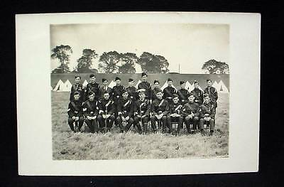 Real Photo British Military Postcard Pre WW1 Soldiers In Uniforms Navy ?