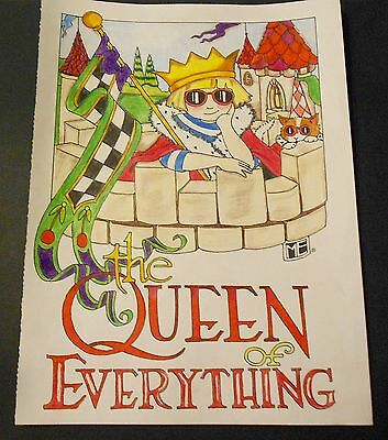 "Mary Engelbreit Print- The Queen Of Everything -Hand Colored- Framing-8""x11"""